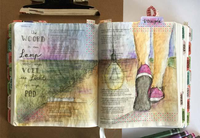 Uw Woord Is Een Lamp Bible Art Journaling